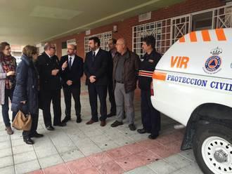 El director general de Protección Ciudadana visita la Agrupación de Protección Civil de Azuqueca
