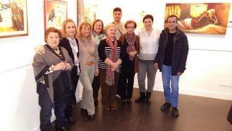 Del aula de pintura del Centro de Mayores de Marchamalo a la Sala de Exposiciones de Valdeluz