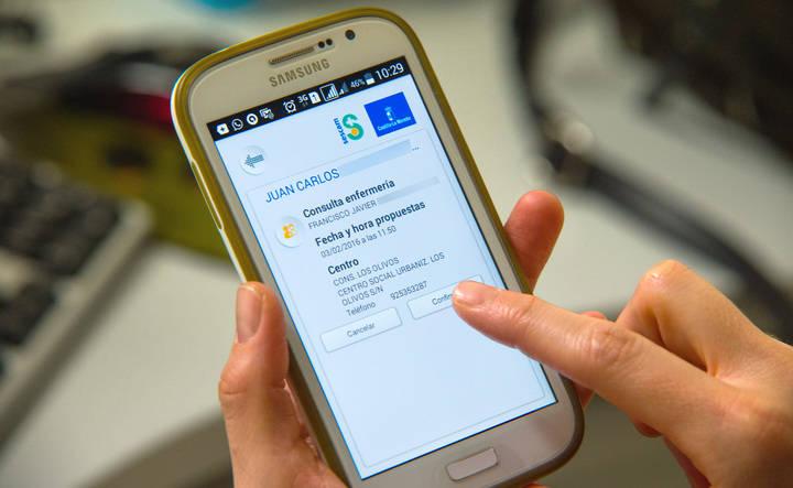 La cita con el enfermero se puede pedir vía teléfono móvil a través de la web del SESCAM