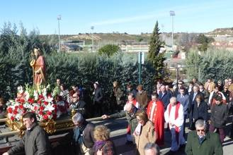 El presidente de la Diputación asiste a la Fiesta de San Blas en Cabanillas del Campo