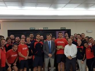 Antonio Román visita a la Selección Española de Rugby