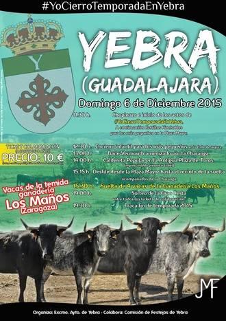 #YoCierroTemporadaEnYebra, último festejo taurino popular del año