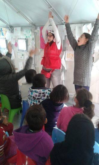 La experiencia de una voluntaria de Cruz Roja de Guadalajara en Grecia