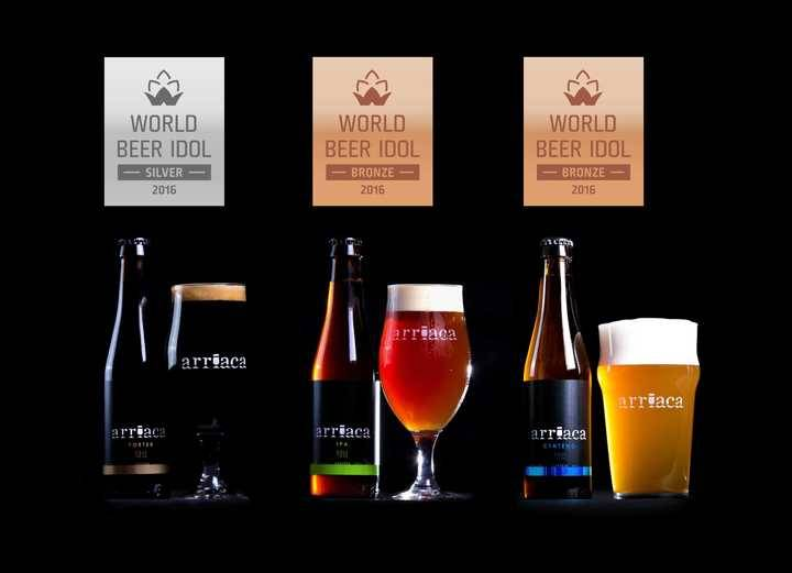Cervezas Arriaca obtiene tres medallas en el World Beer Idol 2016