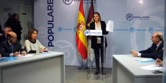 """Cospedal subraya en Guadalajara """"el engaño de PSOE-Podemos al comprometerse por escrito a reducir la educación concertada"""""""