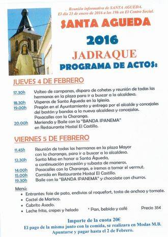 30 Aniversario de las mujeres de Santa Águeda de Jadraque