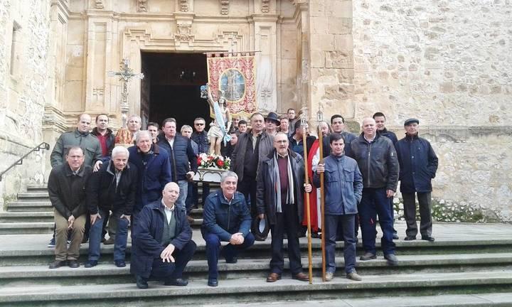 José María Bris y Armando Sanz, Mayordomos Mayor y Menor de la fiesta de San Sebastián 2016 en Jadraque que se recuperó hace ahora 30 años