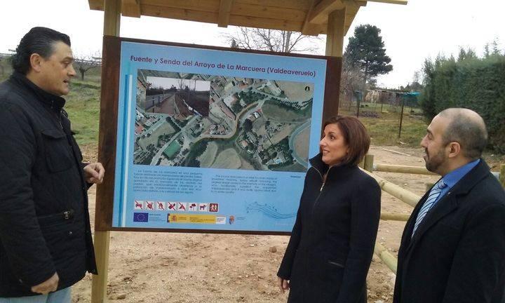 Yolanda Ramírez visita Valdeaveruelo para conocer importantes mejoras en infraestructuras de la localidad