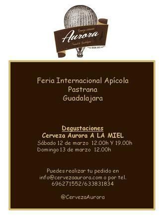 Cerveza Aurora Artesana, de Durón, lanza su nueva variedad a la miel