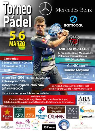 ABAevents y Mercedes Benz-Santogal organizan en Guadalajara un torneo de pádel para el primer fin de semana de marzo