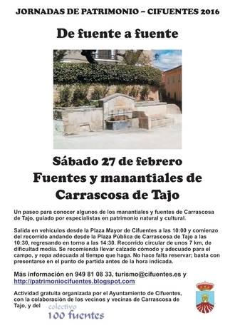 De fuente a fuente por Carrascosa del Tajo, desde Cifuentes