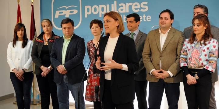 """Cospedal lamenta que, en solo seis meses de Gobierno de PSOE-Podemos, """"volvamos a las andadas al incumplir el objetivo de déficit"""""""