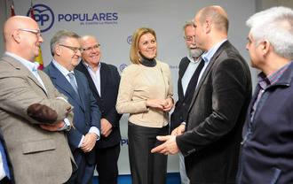 """Cospedal: """"El único Gobierno posible y suficiente es entre PP, PSOE y Ciudadanos"""""""