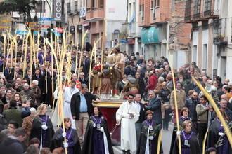 Comienza la Semana Santa en Guadalajara con un Domingo de Ramos al que ha respetado la lluvia