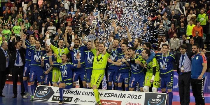 El Movistar Inter se impone en la Copa de España de Fútbol Sala celebrada en Guadalajara
