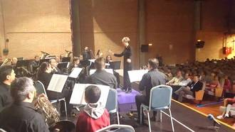 El presidente de la Diputación asiste al Concierto Pedagógico de la Banda de Música
