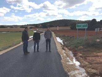 La Diputación finaliza el arreglo de la carretera entre Villel de Mesa y el límite de Zaragoza