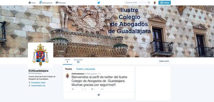 El Ilustre Colegio de Abogados de Guadalajara estrena perfiles en las redes sociales para mejorar la comunicación