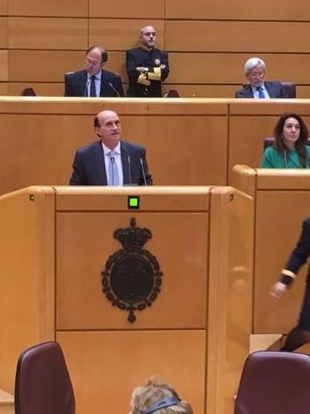 Juan Pablo Sánchez defiende en el Senado la labor de las diputaciones