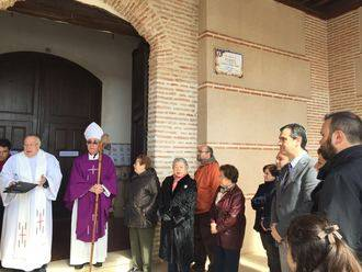 Román asiste este domingo a la misa que se celebra en Usanos con motivo de la finalización de las obras de la iglesia