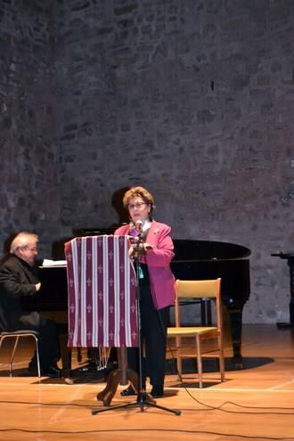 Paloma Gómez Borrero le puso la voz a Santa Teresa y a San Juan de la Cruz en Sigüenza