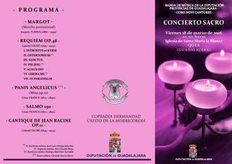 Concierto de la Banda Provincial y Novi Cantores, el viernes 18 en Quer