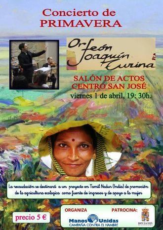 Manos Unidas pretende financiar un proyecto en India con su concierto de primavera en Guadalajara