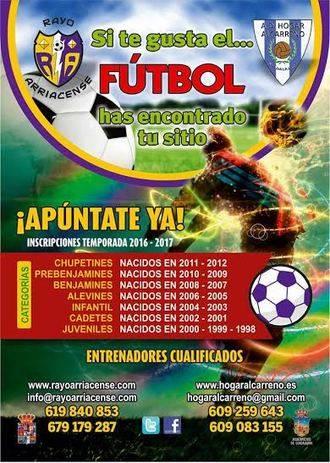 Hogar Alcarreño y Rayo Arriacense también apuestan por su escuela de fútbol