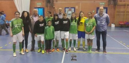 """Las chicas del Alovera """"B"""", ¡¡campeonas de la I Copa Diputación de Futsal Femenino!!"""