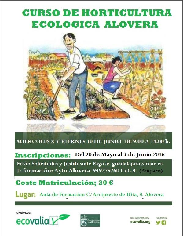 Curso básico de iniciación a la horticultura ecológica en Alovera