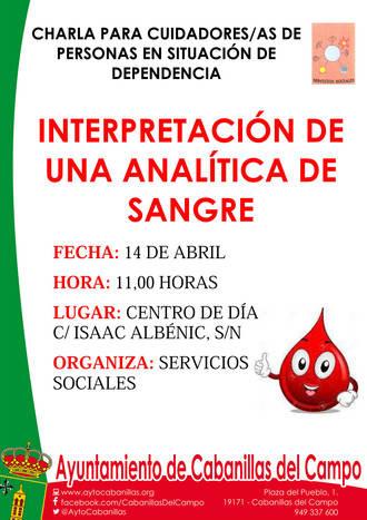 En Cabanillas van a enseñar a entender una analítica de sangre