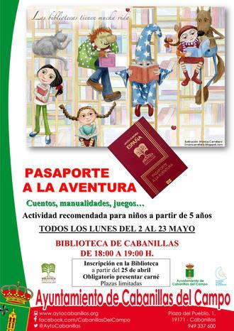 La Biblioteca de Cabanillas lanza la actividad Pasaporte a la Aventura, para los lunes de mayo