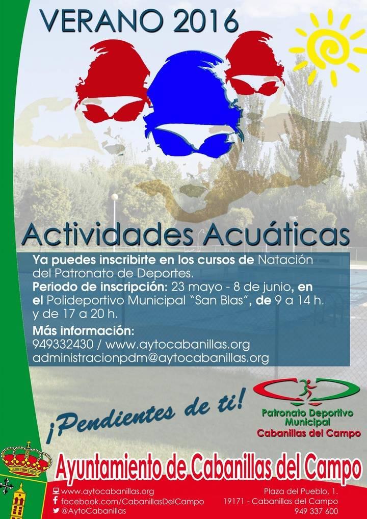 Abierta la inscripción para las actividades acuáticas de verano en la Piscina Municipal de Cabanillas