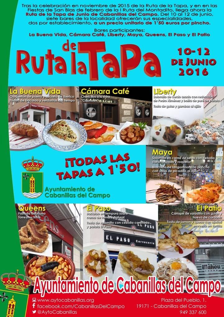 Este fin de semana, nueva edición local de la Ruta de la Tapa y mercadillo artesano en Cabanillas