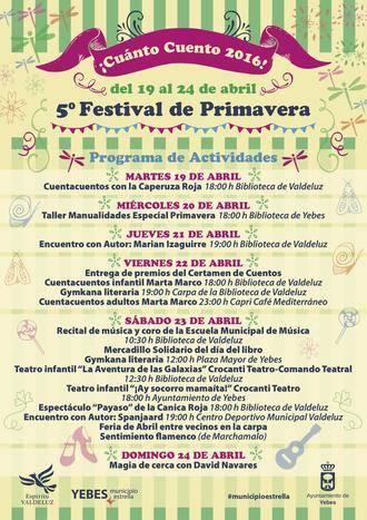El V Festival de Primavera de Yebes trae este año más de una quincena de espectáculos lúdicos y culturales