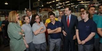 """Rajoy, desde Guadalajara: """"Seguiremos trabajando para que haya más inversión extranjera en España"""""""