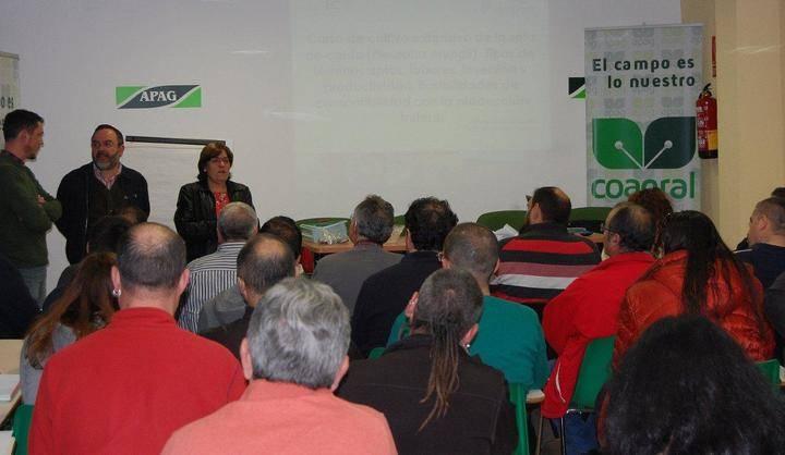 Lleno en el curso de cultivo de seta de cardo organizado por Diputación