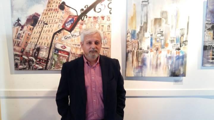 Antonio Santos expone su obra por primera vez en la Sala de Arte de Valdeluz