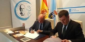 El presidente de la Diputación sella la colaboración con la Fundación Cela para impulsar el 'Viaje a la Alcarria'
