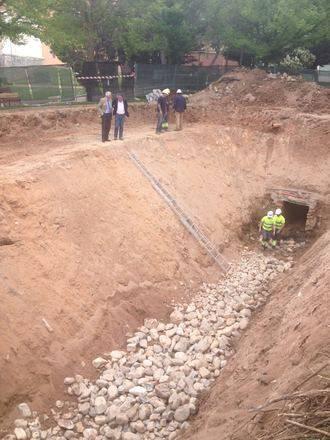 Guadalagua rehabilita parte de la canalización de la plaza Sor María Lovelle