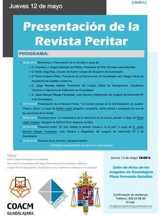 """El salón de actos de los Juzgados de Guadalajara acoge la presentación de la revista """"Peritar"""""""