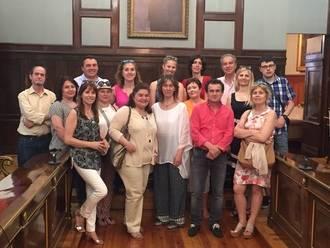 Profesores de ocho países europeos visitan la Diputación Provincial