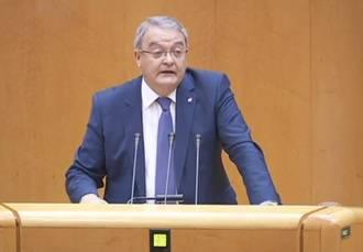 Juan Antonio de las Heras estrena en el Senado su condición de portavoz del GPP