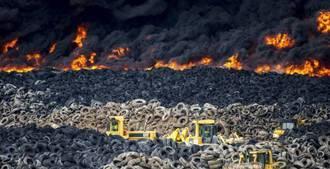 Ya han ardido el 70% de los cinco millones de neumáticos del vertedero en Seseña