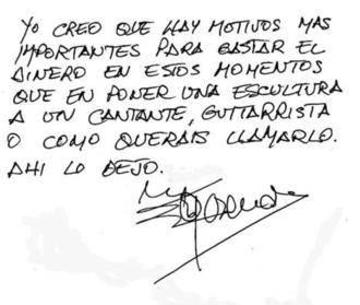 El cantante Rosendo se lo deja claro a Ahora Madrid: