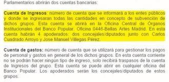 Ciudadanos desvía subvenciones de los ayuntamientos a cuentas que controla Villegas