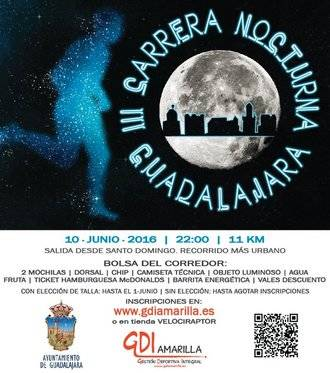 Todo listo para la III Carrera Nocturna de Guadalajara