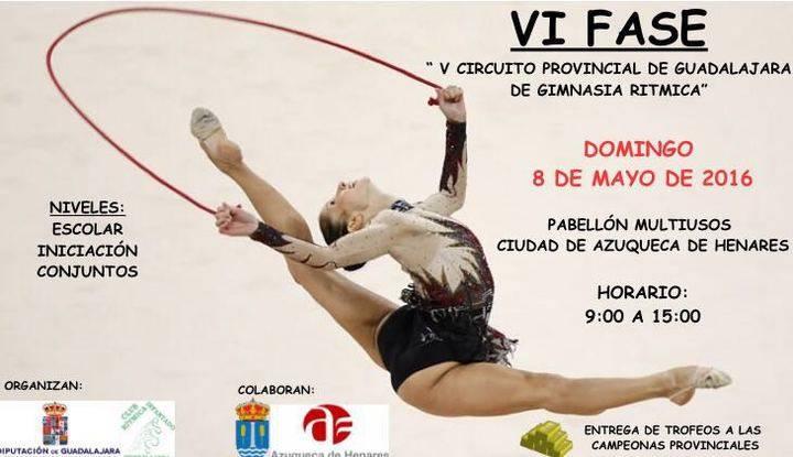 El domingo 8, VI Fase de del V Circuito Diputación de Rítmica en Azuqueca
