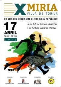 El domingo 17, X Miria de Torija, segunda Prueba del Circuito de Carreras Populares de Diputación