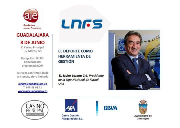 Los jóvenes empresarios de Guadalajara se traen a Javier Lozano para hablar de deporte y gestión
